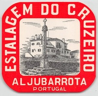 "D7869 ""ESTALAGEM DO GRUZEIRO - AL JUBARROTA - PORTUGAL"" ETICHETTA ORIG - ORIGINAL LABEL - Adesivi Di Alberghi"