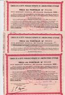 Actions & Titres >  3 Reçus 1933 - Actions & Titres