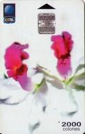 TARJETA TELEFONICA DE COSTA RICA. (CHIP). 03.99, ORQUIDEAS Nº1, 1ª EMISIÓN. 050 - Costa Rica