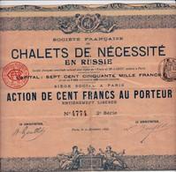 Actions & Titres > Chalets De Nécéssité 1898 - Aandelen