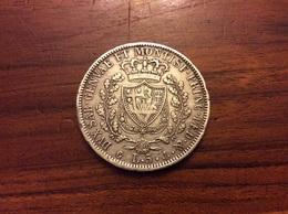 5 Lire 1827 Argent (TTB) - …-1861 : Before Reunification