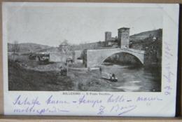 MILLESIMO (SAVONA) IL PONTE VECCHIO, ANIMATA, VIAGGIATA 1901 - Italia