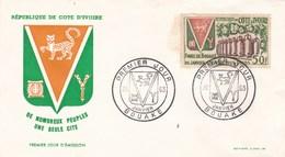 ENVELOPPE PREMIER JOUR REPUBLIQUE DE COTE D'IVOIRE 26/01/1963 (dil372) - Ivory Coast (1960-...)
