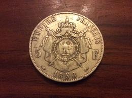 5 Francs 1856 Argent - Frankreich