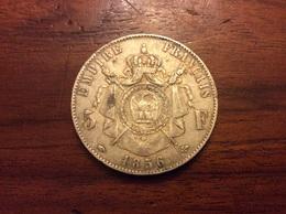 5 Francs 1856 A  Argent - J. 5 Francs