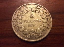 5 Francs 1852 A  Argent - J. 5 Francs