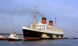 7X5 PHOTO OF Q E I ARRIVING AT SOUTHAMPTON - Boats