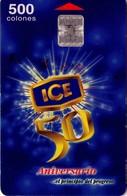 TARJETA TELEFONICA DE COSTA RICA. (CHIP). 10.99, ICE 50 ANIVERSARIO, 1ª EMISIÓN. 064 REVERSO REGULAR - Costa Rica