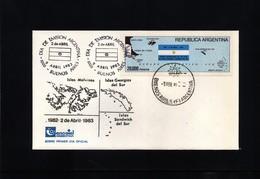 Falkland Islands / Islas Malvinas 1983 Interesting Letter - Briefe U. Dokumente