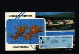 Falkland Islands / Islas Malvinas 1982 Interesting Postcard - Falkland Islands