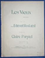 CAF CONC PIANO GF PARTITION CHANT LES VIEUX CLAIRE PARPIEL MADAME EDMOND ROSTAND ROSEMONDE GÉRARD 1902 - Music & Instruments