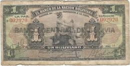 Bolivia 1 Boliviano 11-05-1911 (1929) Pick 112.3 Ref 1685 - Bolivia