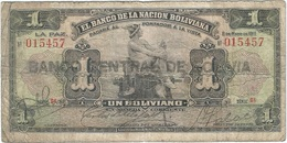 Bolivia 1 Boliviano 11-05-1911 (1929) Pick 112.3 Ref 752-3 - Bolivia