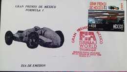 J) 1989 MEXICO, GRAND PRIX OF MEXICO FORMULA I, CAR, FDC - Mexique