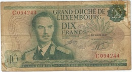 Luxemburgo - Luxembourg 10 Francs 20-03-1967 Pick 53a Ref 1700 - Luxemburgo
