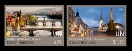 United Nations (New York) 2016 Mih. 1543/44 UNESCO World Heritage In Czech Republic (I) (joint Issue UN-Czechia) MNH ** - New York -  VN Hauptquartier