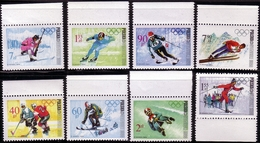 POLAND 1968 Olympic Games With Margin Stamps Hockey, Skating, Ski Jumping, Biathlon. MNH** W110 - Winter 1968: Grenoble