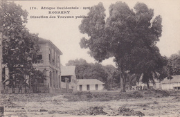 AFRIQUE,AFRICA,AFRIKA,guinée Française,CONAKRY,colonie ,cédée Parles Anglais Aux Français En 1891,BUREAU TRAVAUX PUBLICS - Guinée Française