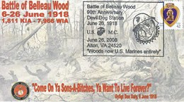 """MARINES  """" DEVIL DOGS """" W.W.I.  BATTLE OF  BELLEAU  WOODS - Event Covers"""