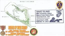 MARINES   W.W.II   BATTLE OF  WAKE  ISLAND - Event Covers