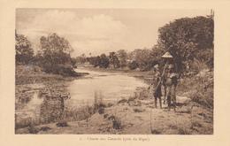 AFRIQUE,AFRICA,AFRIKA,BORD  DU NIGER,colonie Française,indépendant En 1960,chasseur,chasse Aux Canards,rare - Niger