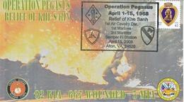 "MARINES  VIETNAM  WAR  "" OPERATION  PEGASUS  ""  KHE  SANH - Event Covers"