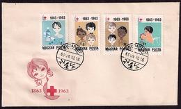 Hongrie - 1963 - 100 Ans De La Croix-Rouge - Croix-Rouge