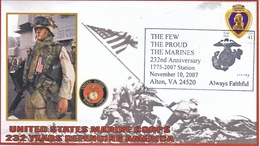 MARINES  AT  WAR  232 Nd.  ANNIV. - Event Covers