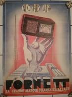 Affiche - Radio TSF - FORNETT Marque D' Alsace Strasbourg-Neudorf - Années 193 - Radio & TSF