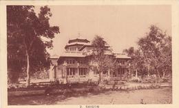 ASIE,ASIA,viet-nam,COLONIALE,SAIGON  EN 1934 ,AVEC TIMBRE INDOCHINE,jardin Botanique Français,musée De La Brosse,rare - Cambodge