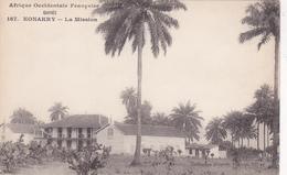 AFRIQUE,AFRICA,AFRIKA,guinée  Française,CONAKRY,colonie ,cédée Parles Anglais Aux Français En1891,la Mission,palmier - Guinée Française