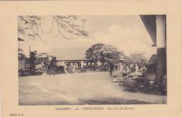 AFRIQUE,AFRICA,Dahomey En 1916,PORTO-NOVO, Devenu Bénin En 1975,empire Colonial Français,colonie,ouémé,le Marché,rare - Benin