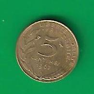 5 CENTIMES  MARIANNE  1967   (PRIX FIXE)   (CU23) - G. 50 Centimes
