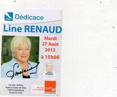 Flyer Signé Line RENAUD - Autographes
