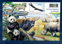 - Etat : **  France  BF 128  Auroch Guepard Condor Rhinocéros Panda    Cl Animaux 96 - Rhinozerosse