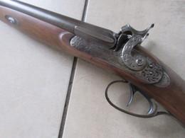 TRES LOURD ET TRES BEAU FUSIL A PISTON CAL 12 CANON DAMAS CHOCOLAT - Decorative Weapons
