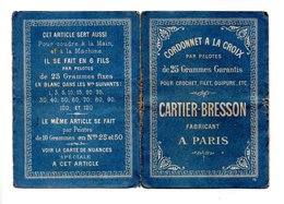 CORDONNET À LA CROIX . CARTIER-BRESSON . DÉPLIANT - Réf. N°9814 - - Cross Stitch