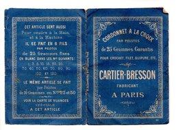 CORDONNET À LA CROIX . CARTIER-BRESSON . DÉPLIANT - Réf. N°9815 - - Cross Stitch