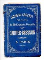 COTON AU CROCHET . CARTIER-BRESSON . DÉPLIANT- Réf. N°9816 - - Cross Stitch