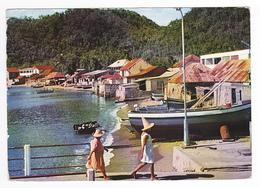 Guadeloupe En 1969 N°12 Les Saintes Terre De Haut Le Bourg Et Le Front De Mer Collection CABE Pointe à Pitre - Pointe A Pitre