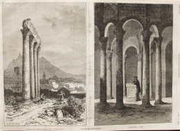 France Pittoresque - Le Panthéon à Riez (Basses-Alpes) - Page Original 1875 - Historical Documents