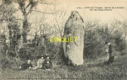 85 Avrillé, Menhir De La Boillière, Famille Et Photographe, Carte Pas Très Courante - Autres Communes