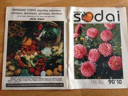 Liithuania Magazine Gardens 1990  Dog Nutria Flowers Bees - Magazines