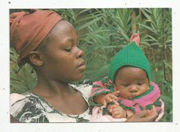 Cp , AFRIQUE , Femme Et Enfant , Bébé , POSTAL MISIONERA ,n° 203 , VIERGE - Non Classés
