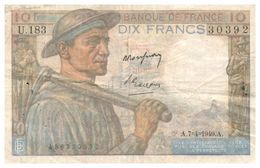 Billet > France >1949 > Valeur 10 - 1871-1952 Anciens Francs Circulés Au XXème
