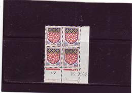N° 1352 - 0,05F Blason D'AMIENS - A De  A+B - 1° Tirage Du 5.7.62 Au 4.8.62 - 16.07.1962 - - 1960-1969