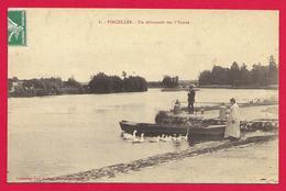 CPA Vincelles - Un Abreuvoir Sur L'Yonne - Frankrijk