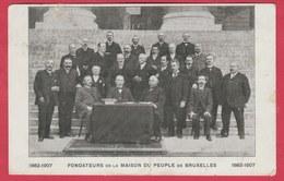 Bruxelles - Fondateurs De La Maison Du Peuple - 1882-1907 ( Voir Verso ) - Personnages