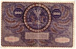 Billets > Pologne > Année 1919 Billets > Valeur 1000 - Poland