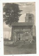 Cp , 28 , CHATEAUDUN , église SAINT JEAN Et Portail , Voyagée 1916, F.M. - Chateaudun